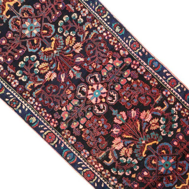 Antique Persian Bakhtiari Runner with Modern Style in Vibrant Colors For Sale - Image 4 of 9