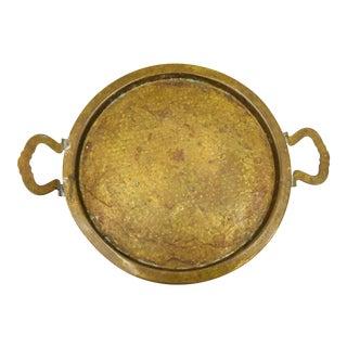 Antique Hammered Brass Tray