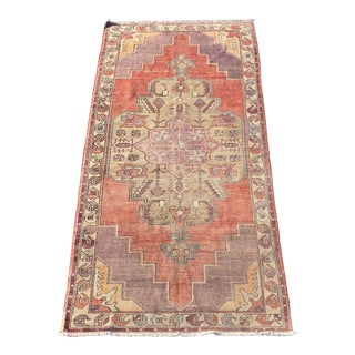 1950s Vintage Turkish Runner Rug - 4′4″ × 8′10″ For Sale