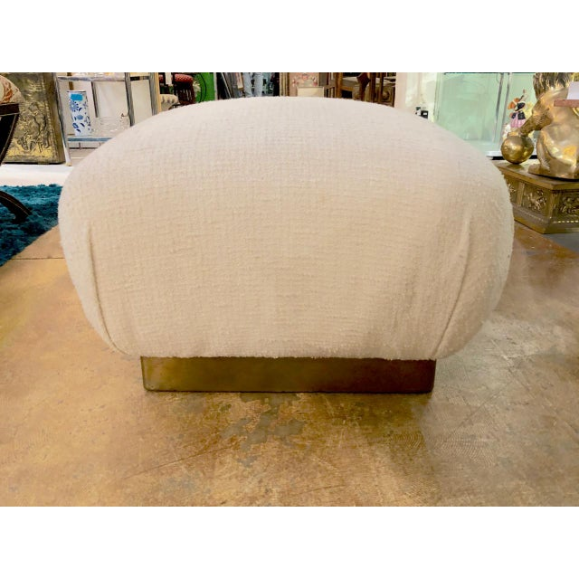 Karl Springer Style Ottoman For Sale In Los Angeles - Image 6 of 6