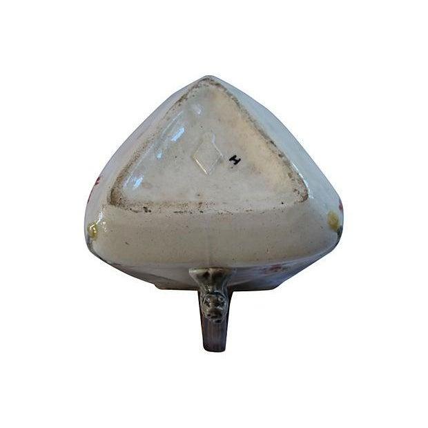 English Majolica Triangular Bird Jug - Image 3 of 6