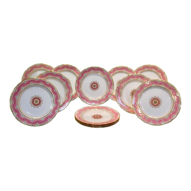 Early 20th Century Antique Minton for Tiffany Plates - Set of 12 For Sale