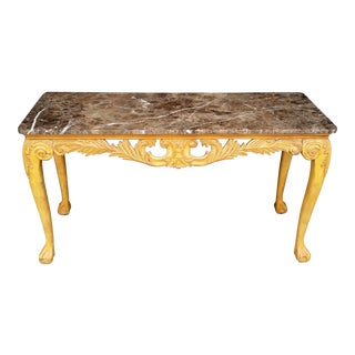 1970s French Regency Henredon Console Table For Sale