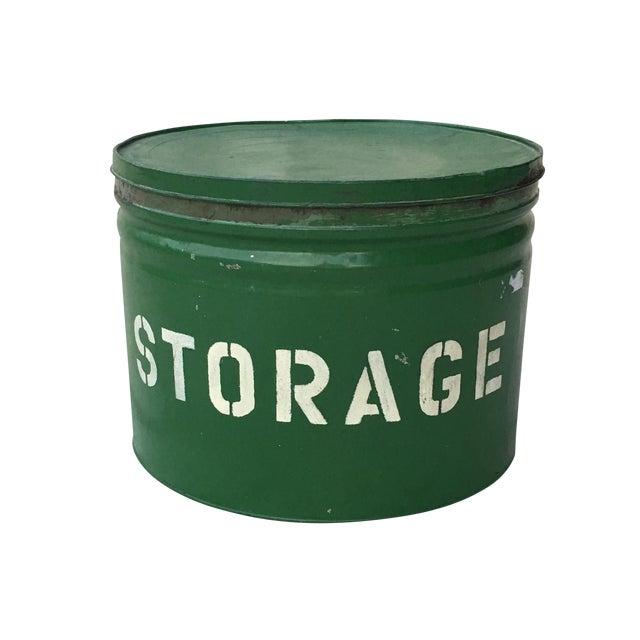 Antique Green Storage Box - Image 1 of 3