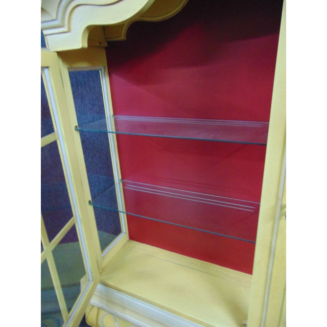 Drexel French Style Paint Decorated China Cabinet For Sale - Image 9 of 10