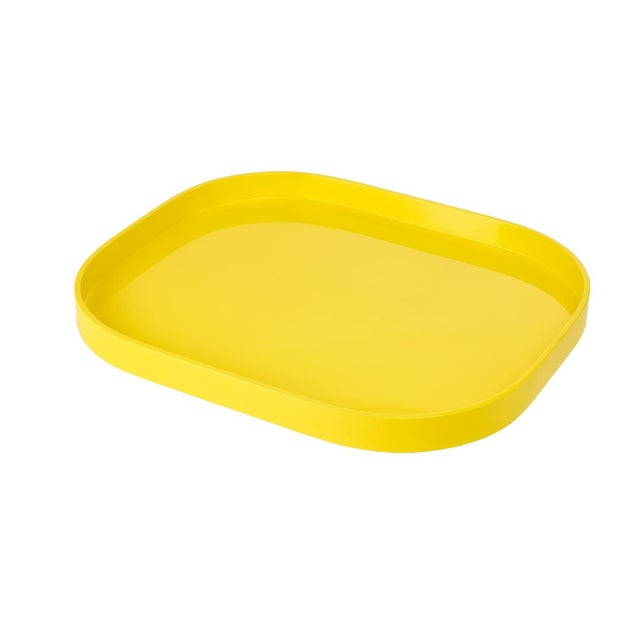 Contemporary Miles Redd Collection Small Stacking Tray in Marigold Yellow For Sale - Image 3 of 3