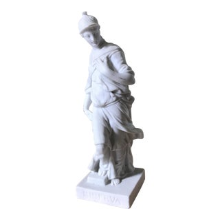 Signed Porcelain Statue of Minerva