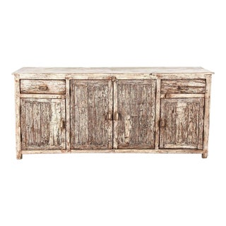 Distressed Rustic Country Wooden Sideboard
