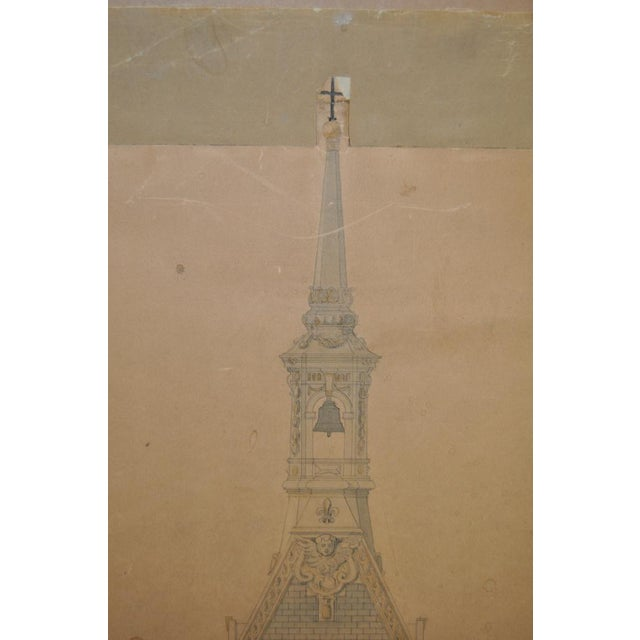 18th/19th Century Master Architectural Drawings For Sale - Image 5 of 11