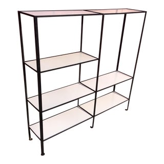 Frederick Weinberg Style Wrought Iron Masonite Bookcase
