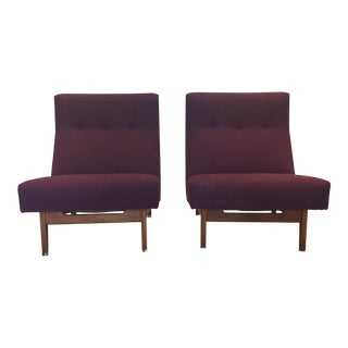Jens Risom Design Wide SlipperChairs - a Pair