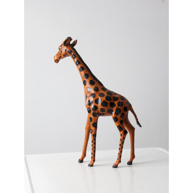 Early 20th Century Vintage Leather Giraffe For Sale - Image 5 of 10