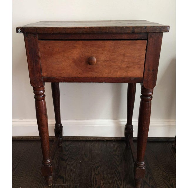 20th Century Rustic Drop Leaf Work Table For Sale - Image 10 of 10