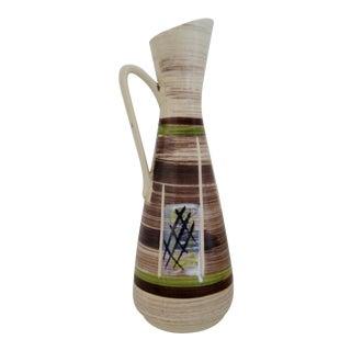 West German Ceramic Vase For Sale