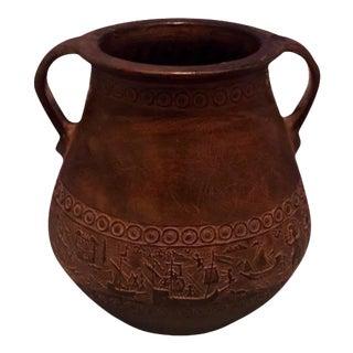 Antique Greek Stoneware Pottery Urn