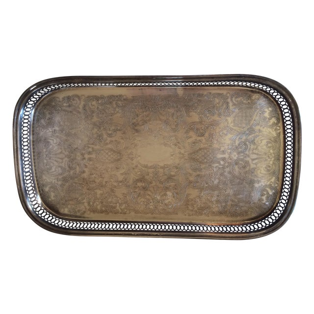 Silver Gallery Rectangle Tray - Image 1 of 6