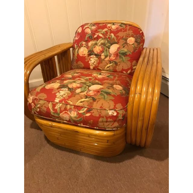 Mid-Century Vintage Paul Frankl Style Bamboo Rattan Lounge Chairs - a Pair For Sale - Image 9 of 11