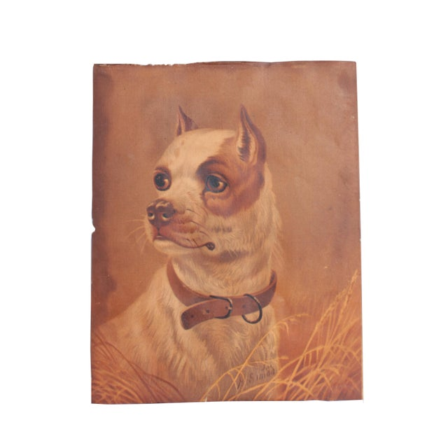 Victorian 19th Century Dog Print For Sale - Image 3 of 4