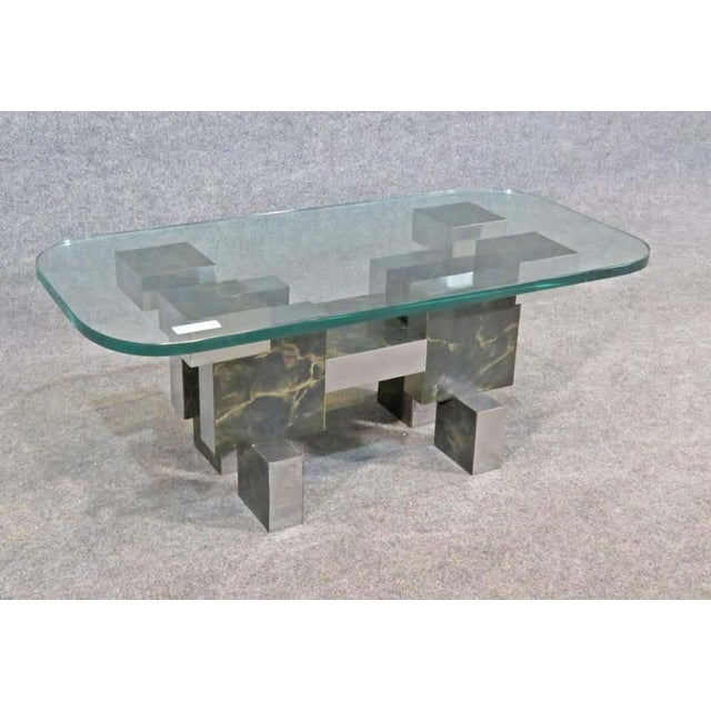 Mid-Century Modern Paul Evans Style Coffee Table For Sale - Image 3 of 6