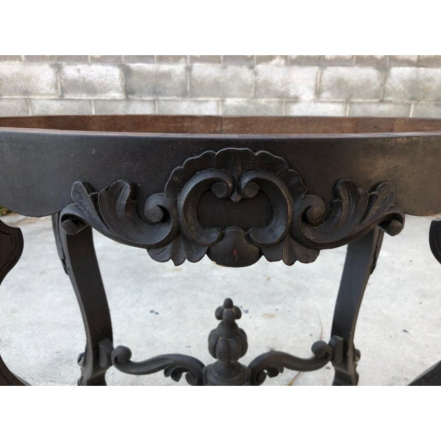 Late 19th Century 19th Century Traditional Marble Topped Table For Sale - Image 5 of 11
