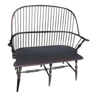 Handmade Black Windsor Bench For Sale
