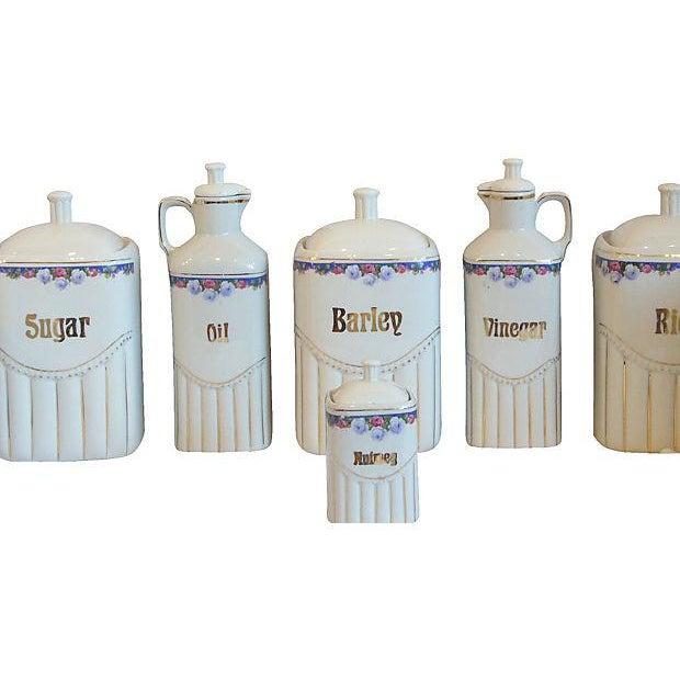 Vintage Porcelain Kitchen Canisters - Set of 12 - Image 7 of 8