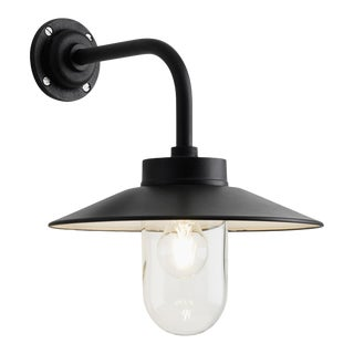 Tekna Quay 90° Wall Light with Black Lacquer Finish and Clear Glass For Sale
