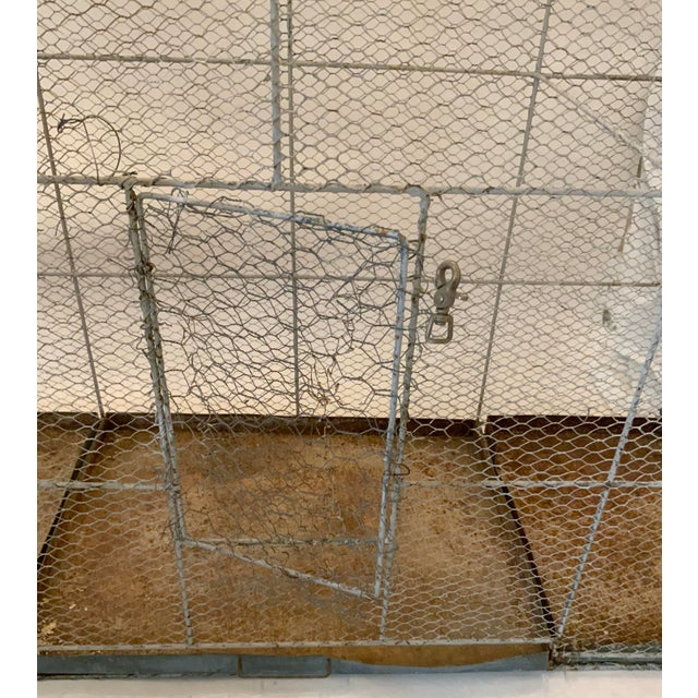 1950s Vintage 1950s French Style Metal Birdcage For Sale - Image 5 of 13