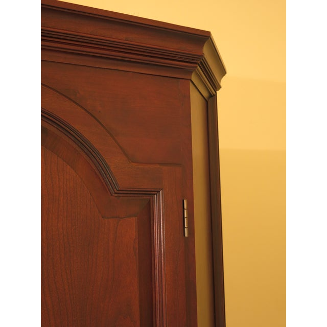 Cherry Wood Raised Panel Door Solid Cherry Tv Corner Cabinet For Sale - Image 7 of 13