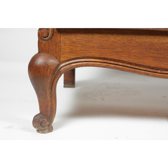Oak Mid-Century Louis XV-Style Buffet For Sale - Image 7 of 12