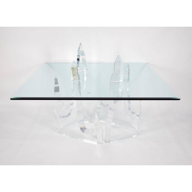 "Mid-Century Modern ""Iceberg"" Dining Table by Lion in Frost For Sale - Image 3 of 8"