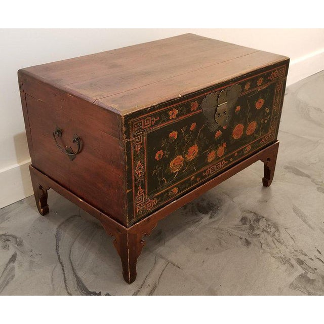 Chinese Trunk on Stand For Sale In San Francisco - Image 6 of 13