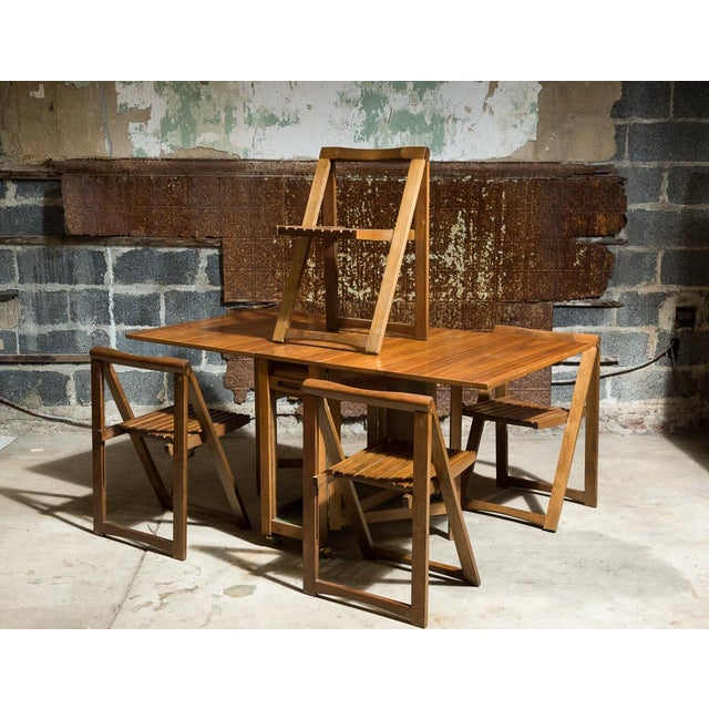 Drop Leaf Veneer Dining Set - Image 2 of 11