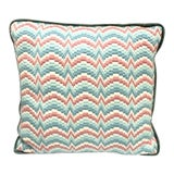 Image of Chevron Needlepoint Throw Pillow For Sale
