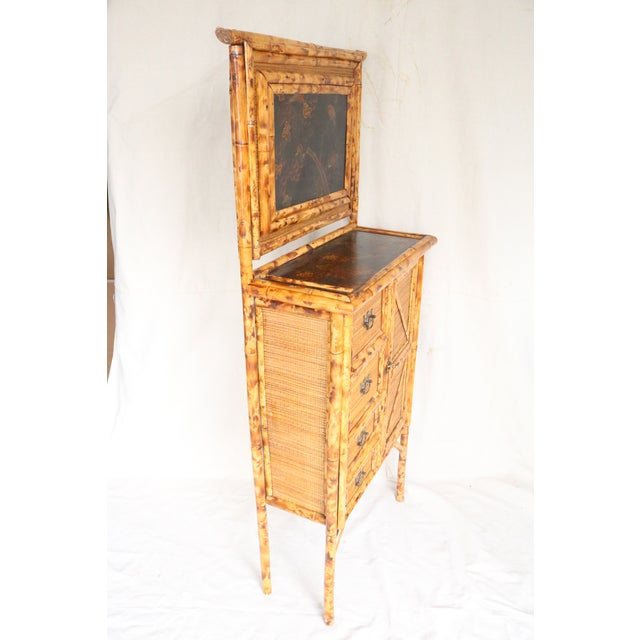19th Century English Bamboo Vanity Cabinet For Sale - Image 11 of 13