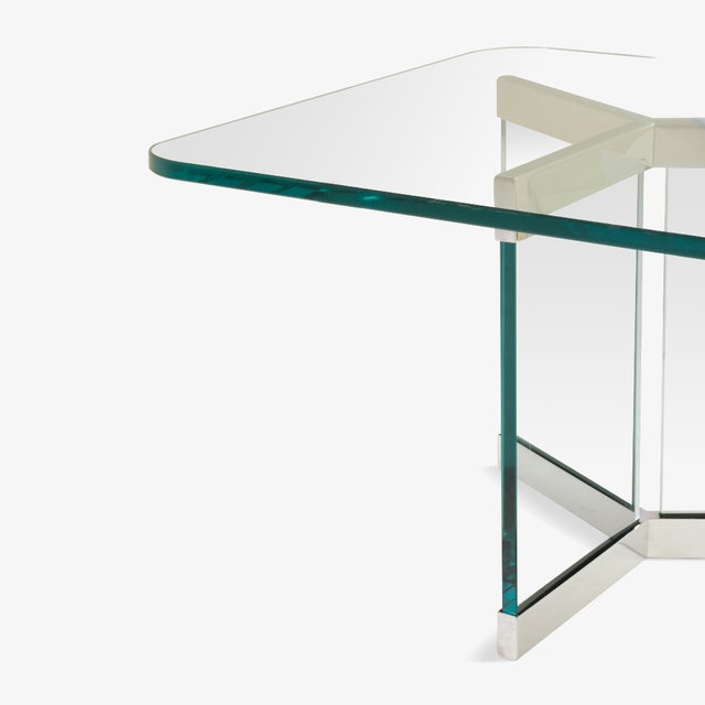 Mid-Century Modern Tri-Base Glass Cocktail Table by Leon Rosen for Pace For Sale - Image 3 of 5