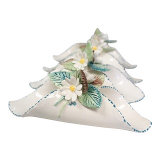 Floral Napkin Rings - Set of 4 For Sale