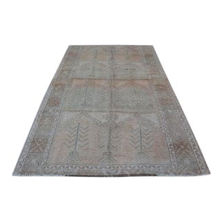 1960s Vintage Turkish Oushak Faded Rug - 5′6″ × 9′4″ For Sale