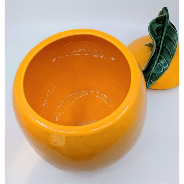 Orange Vintage Ceramic Orange Fruit Cookie Jar For Sale - Image 8 of 11