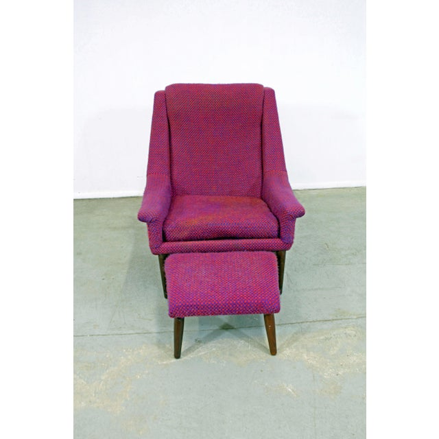 Danish Modern Mid-Century Danish Modern Ohlsson Style Bramin Teak Easy Lounge Chair & Ottoman For Sale - Image 3 of 13