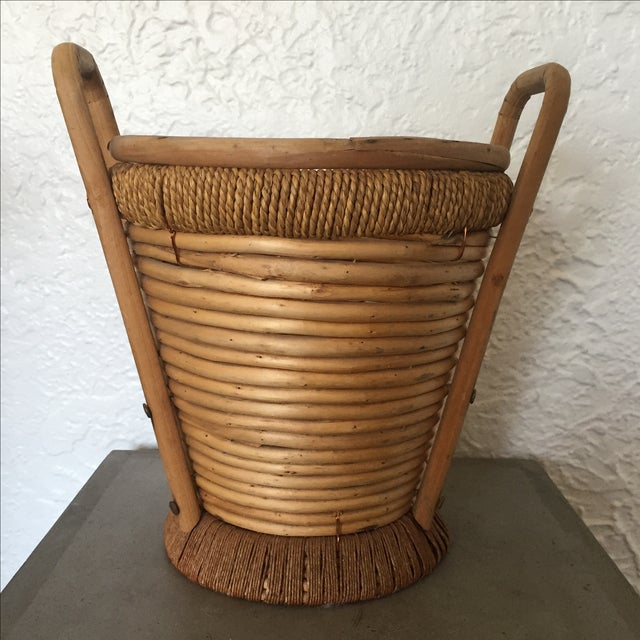 1970s Rattan Bucket - Image 7 of 9