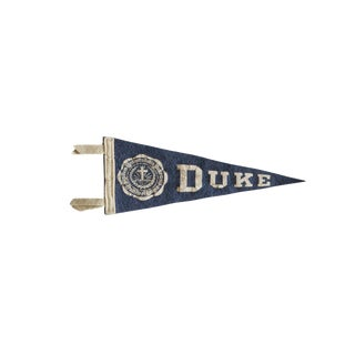 Vintage Duke Felt Flag Pennant For Sale