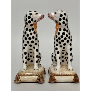 Staffordshire Style Porcelain Dalmatian Dog Bookends – a Pair Preview