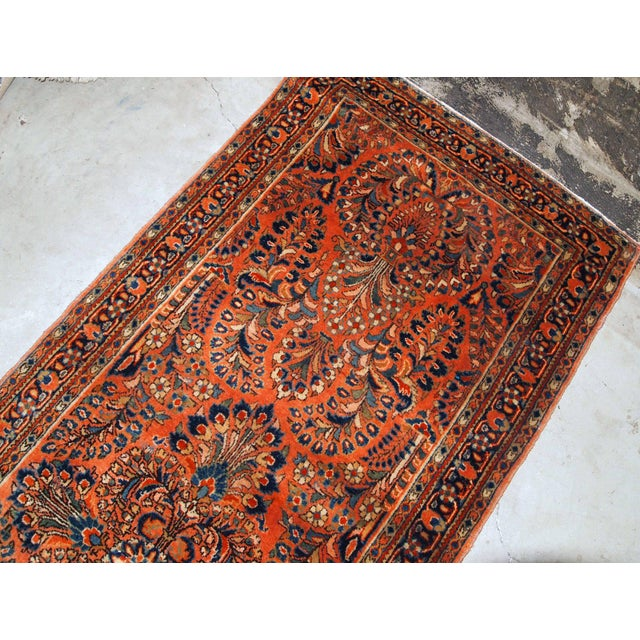 1920s, Handmade Antique Persian Sarouk Rug For Sale - Image 4 of 8