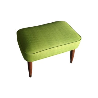Mid-Century Lime Green Foot Stool