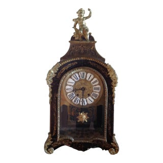 Early 18th Century Antique Boulle French Clock For Sale