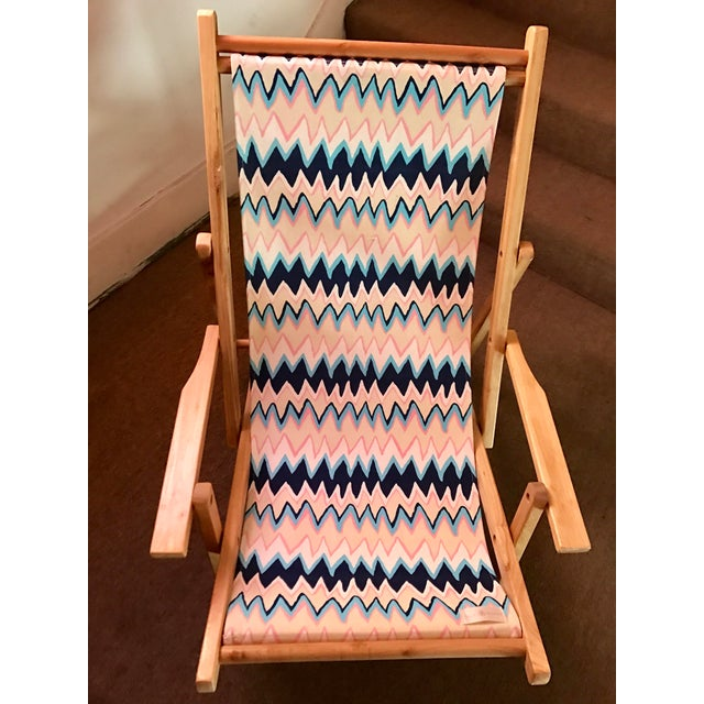 Contemporary Julie Brown Fold-Up Reversible Printed Chair For Sale - Image 3 of 5