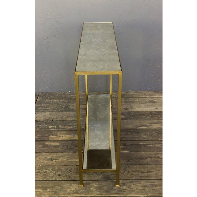 Custom-made Marcelo Console Table With Antique Mirror Shelving - Image 6 of 10