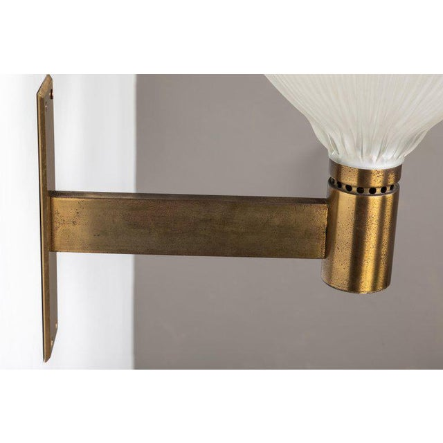 Large 1960s Studio B.B.P.R Brass Sconce For Sale - Image 12 of 13