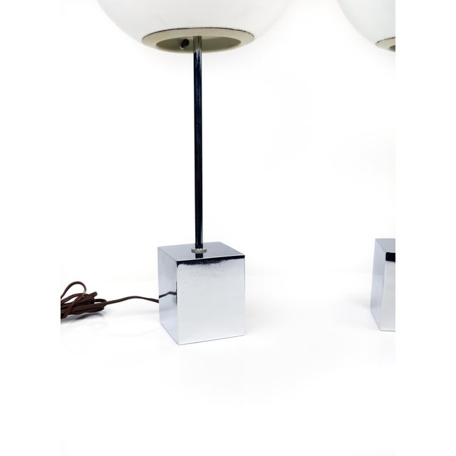 Pair of Sonneman Lollipop Table Lamps For Sale In New York - Image 6 of 9